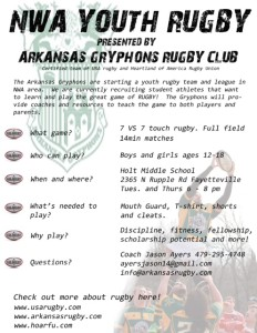 Arkansas Youth Rugby Flyer