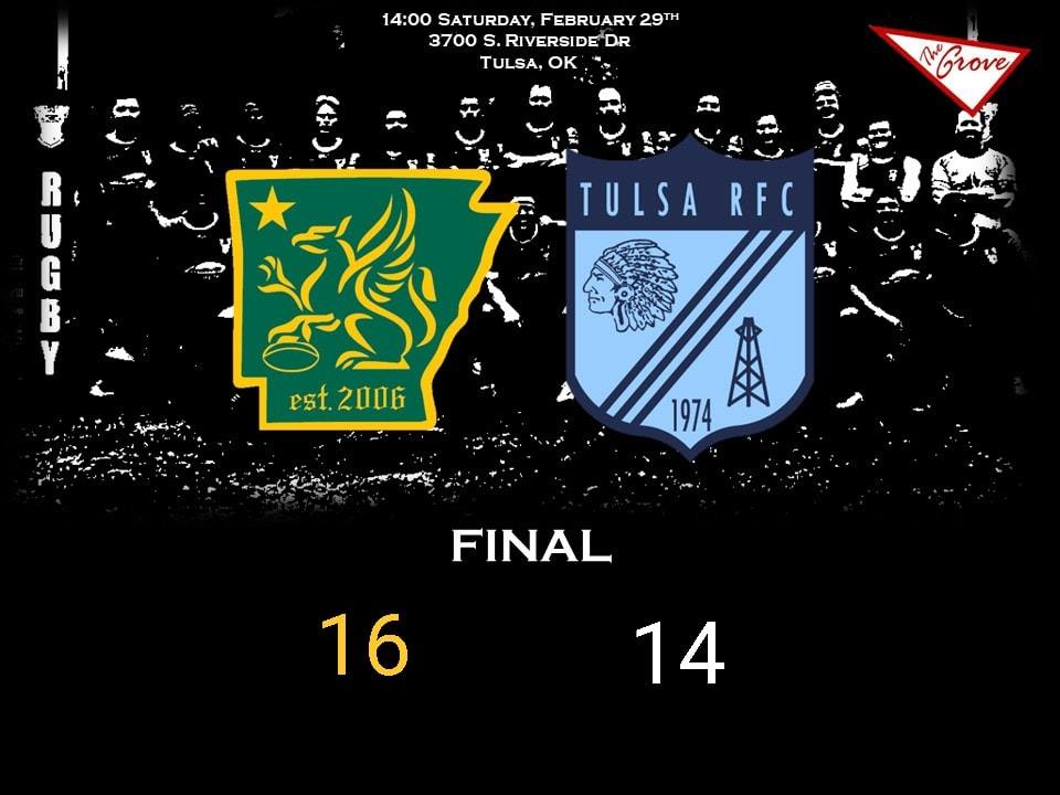 Full Time    Arkansas Gryphons @ Tulsa RFC